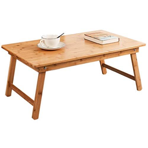 MQJ Folding Table Small Tea Table Bamboo Low Table Table Folding Bed Home Eating Bay Window Table Square Table,Medium