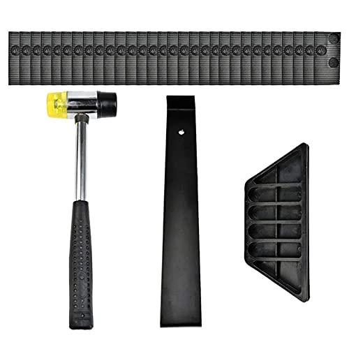 Instalación de laminado Parquet Parquet kit de plástico herramientas de adaptación fijados con el gancho 33pcs martillo de goma + desmontaje posterior