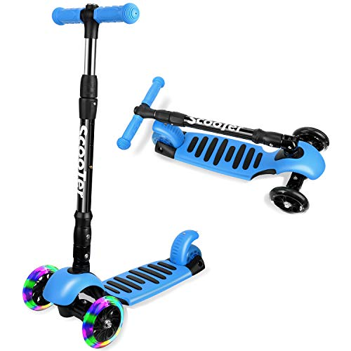I·CODE 3 Wheel Scooter for Kids Premium Kick Scooter with AntiSlip DeckFlashing WheelsLean to Steer for Toddler Girls amp Boys310 Year
