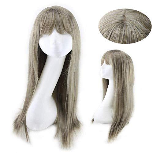 Peluca LIU Hai Wig Daily Harajuku Style Cyan Long Straight Hair Pelo Abuela Ash Cosplay, Fiesta, Disfraz, Masquerade @ C