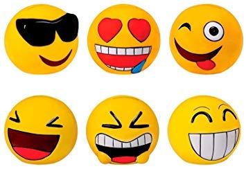 Lote de 24 Huchas Emoticonos - Huchas Infantiles para Niños Originales Huchas para Detalles y Regalos Comuniones, Cumpleaños, Bodas
