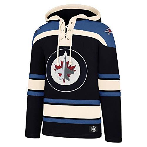 '47 Brand Winnipeg Jets Lacer Jersey Hoodie NHL Sweatshirt, XL