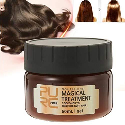 Surenhap Glattes Haar Conditioner Mask Haarpflege Magical Hair Treatment 5 Sekunden für repariert Schaden Haarwurzel, 60ml