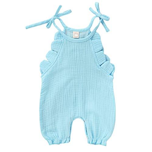 Borlai Bodysuits Baby Peuter Meisjes Romper Katoen Linnen Mouwloos Jumpsuit voor 0-18M Baby Meisjes