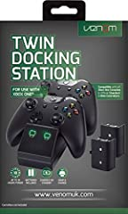 Dock, Store and fast charge your Xbox One Controllers Keep Controllers fully charged and ready to use Supplied with 2 x 700 NiMH rechargeable battery packs Red LED charge indicators turn to Green once Controllers are fully charged Compatible with Eli...