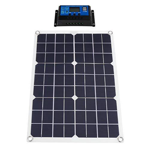 F Fityle Módulo FV Fotovoltaico de Panel Solar Flexible para Carpa de Cabina de Barco RV Remolques de Camiones de 50W