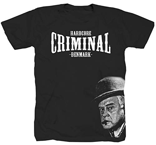 Hardcore Criminal Egon Olsenbande Gangster schwarz T-Shirt (L)