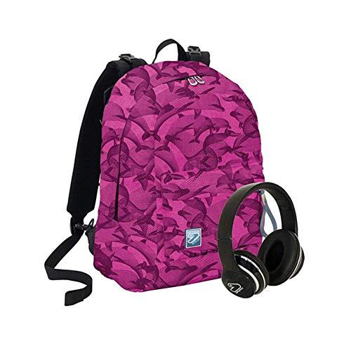 Seven Rucksack, wendbar, Backpack SOCIAL + Kopfhörer