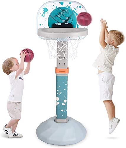 Soporte de baloncesto para niños ajustable, Rack de baloncesto Tablero portátil Toy Baloncesto para niños,Blue