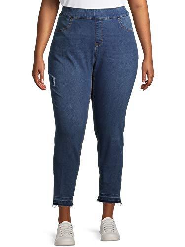 Women's Plus Size Denim Pull on Skinny Jeans (1X, Medium Wash) Terra & Sky  via @amazon
