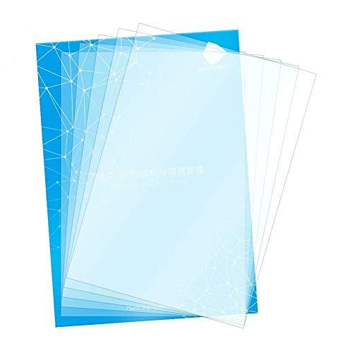 ANYCUBIC FEP Film, Teflon Film Ersatzblatt 200 x 140 x 0,15 (mm) für Photon Photon S LCD SLA resin 3D Drucker (5 pcs)