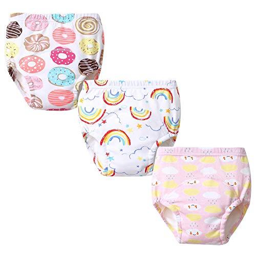 G-Kids G-Kids Unisex Baby Kleinkind Trainerhosen Training Pants Windelhöschen Unterhose Waschbare Lernwindel Töpfchentraining 3PCS B 80
