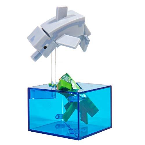 JINX Minecraft Adventure Vinyl Figure (Dolphin and Turtle), Series 4