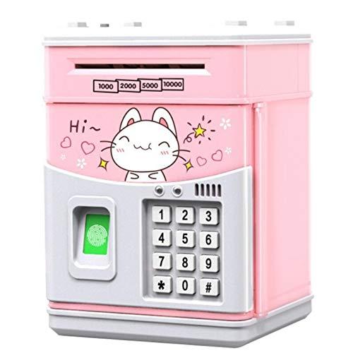 Heritan Hucha electrónica para niños con código, bancos electrónicos de dinero para niños, caja de dinero para niños, caja fuerte para niños