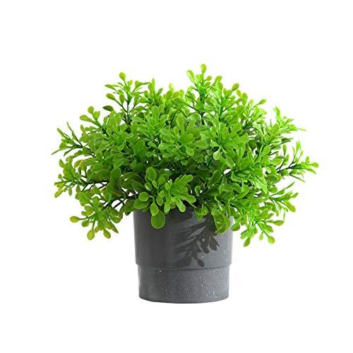 PINBinyee Plantas artificiales para interiores en macetas, césped de simulación, sin riego, plantas decorativas de PVC sin decoloración, artificiales para el hogar, 5 unidades