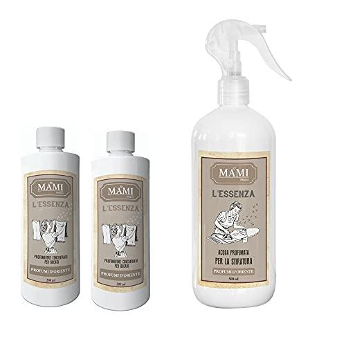 Mami Milano – 2 Esencias de 200 ml + Agua para planchado – Perfumes de Oriente
