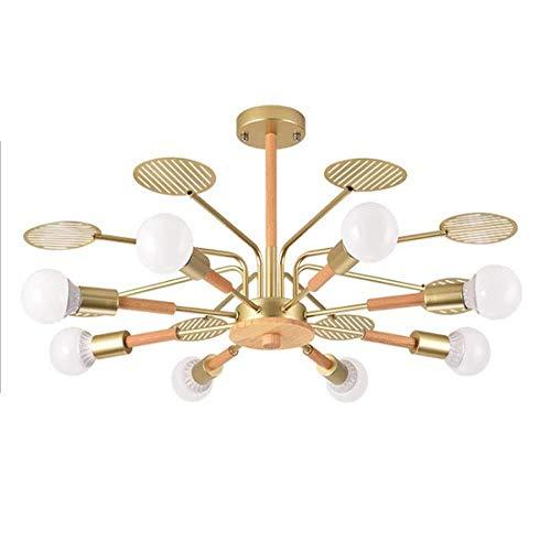 De plafondlamp van Postmodern Nordic tak modern slaapkamer massief houten woonkamer tafel Magic Bean moleculaire lamp voor thuis (8 hoofden)