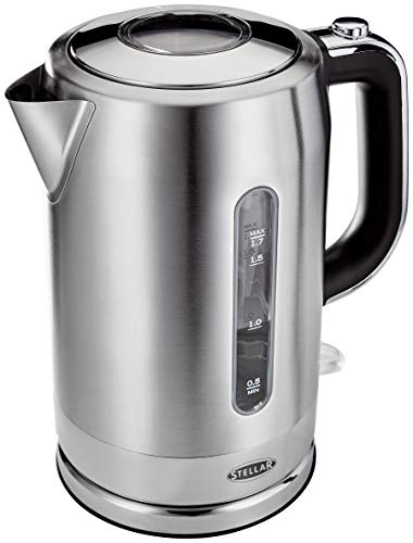 Stellar SEA39 Cordless Electric Kettle, BPA-Free, Quiet, Fast Boil, Stainless Steel, 1.7L 3000W - 2 Year Guarantee