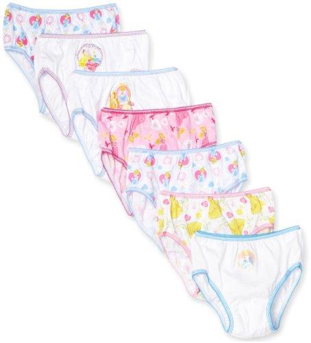 Handcraft Little Girls'  Disney Princess 7 Pack Underwear, Multi, 8