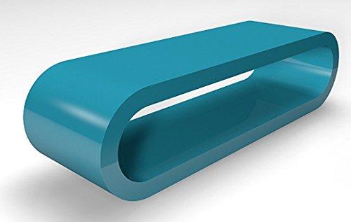 Zespoke Cerceau de Style Rétro Grande Sarcelle Brillant Largeur Table Basse/Meuble TV 110cm