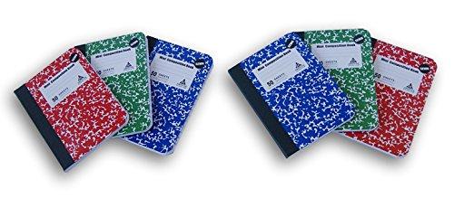 Daisy Bundles Miniature Composition Notebook Set - 6 Count - 3.25 x 4.5 Inches