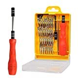 32 in 1 Precision Screwdriver Set with Slotted, Phillips, Torx& More Bits, Non-Slip Magnetic Electronics Tool Kit for Repair iPhone, Android, Computer, Laptop, Watch, Glasses, PC etc