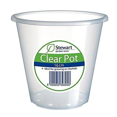 Stewart 2644008 16 cm Clear Pot - Clear
