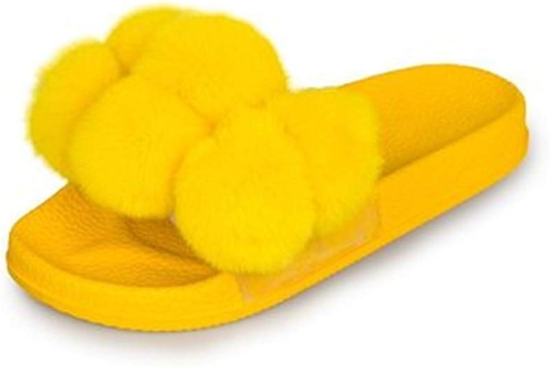 Unyielding1 Women Cute Soft Sole Indoor Bedroom Slippers Comfort Four Season Slipper
