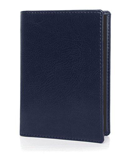 OPTEXX RFID paspoorthoes TÜV getest & gecertificeerd Marek Marine blauw van Vegi Leather ID-hoes beschermhoes beschermer etui paspoort hoes veilig blokkeren paspoort