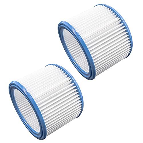 vhbw Set de filtros 2x Filtro plisado compatible con Nilfisk IVB 3, IVB 7X ATEX Z22, VL200 aspiradora en seco y mojado - Filtro, cartucho