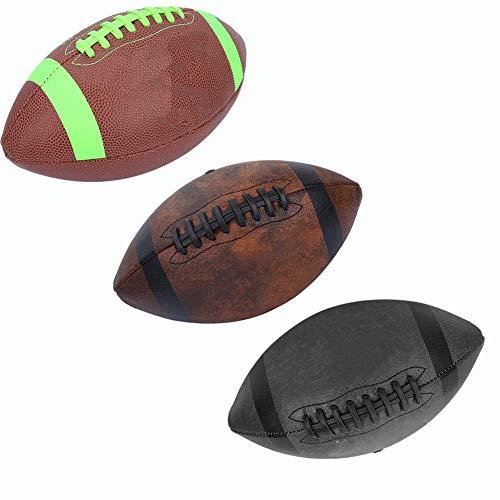 VGEBY1 Tamaño 6 Pelota de Rugby Pelota de Grado Profesional Fútbol Americano Premium para Interiores/Exteriores con Aguja de inflado y Bolsa de Malla