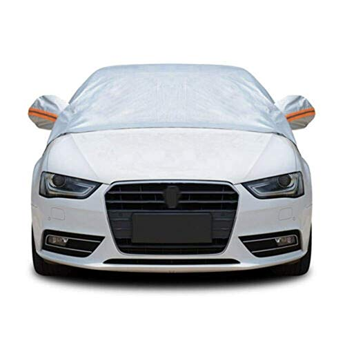 Nuevas Cubiertas universales para automóviles Cubierta Exterior Completa para Exteriores Cubierta de protección Resistente al Polvo de Nieve UV para Sol para sedán (Color: Plateado)