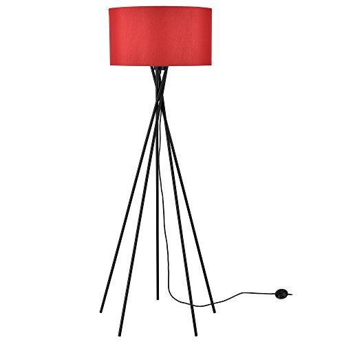 [lux.pro] Design vloerlamp staande lamp - Rood Mikado rood en zwart