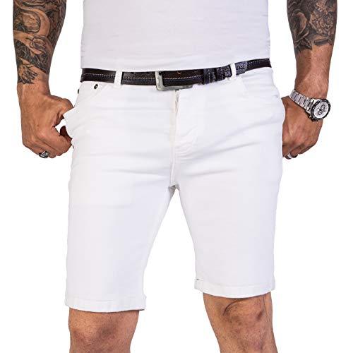 Rock Creek Herren Shorts Jeansshorts Denim Short Kurze Hose Herrenshorts Jeans Sommer Hose Stretch Bermuda Hose RC-2205 Weiß W33