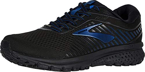 Brooks Men's Ghost 12 GTX, Black/Blue, 8.5 D