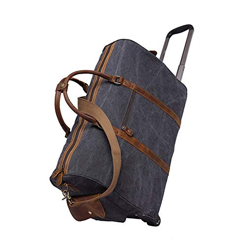 Weekend Overnight bag Men's Minimalist Fashion Weekender Bag With Wheels Luggage Bags Overnight Canvas Tote Bag Oversized Travel Shoulder Handbag Carry On Bag Crossbody Short Trips on the Weekend work