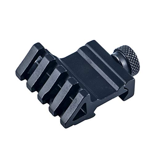 FOCUHUNTER Tactical 45 Degree Angle Offset Rail Mount 4 Slot 20 mm Weaver/Picatinny Quick Release Adapter for Hunting and Shooting