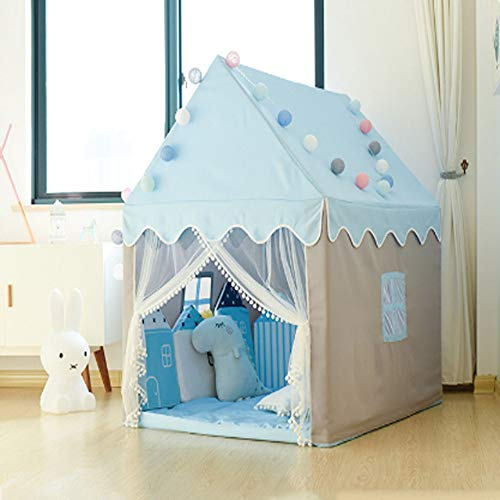 Girls Tent Tent Kids Children'S Tent Indoor Play House Girl Princess Castle Small House Doll House Family Separation Artifact,Blue