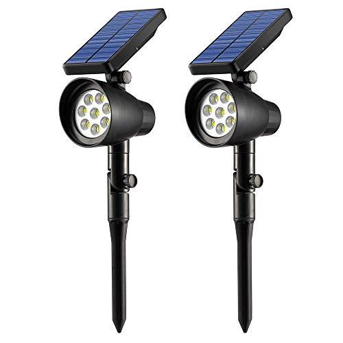 Ubitree Luci Solari Giardino esterno 8 LEDs Wireless Luce Solare Impermeabile Lampade Angolo Regolabile Solari di Esterni per Giardino, Patio, Ponte,