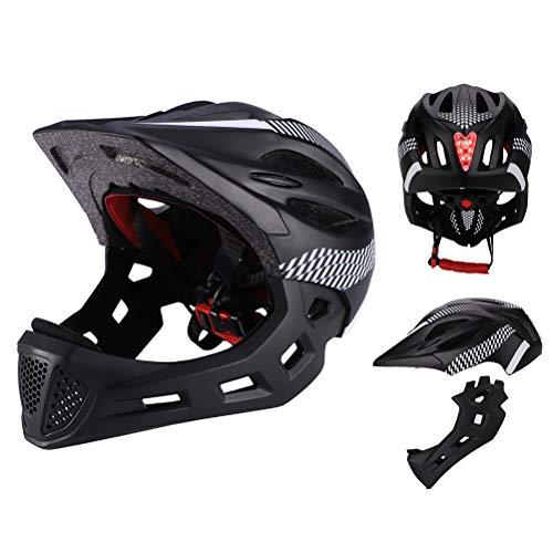 Faviye Kids Sport Helmet Casco Integral Desmontable para niños Casco Integral para...