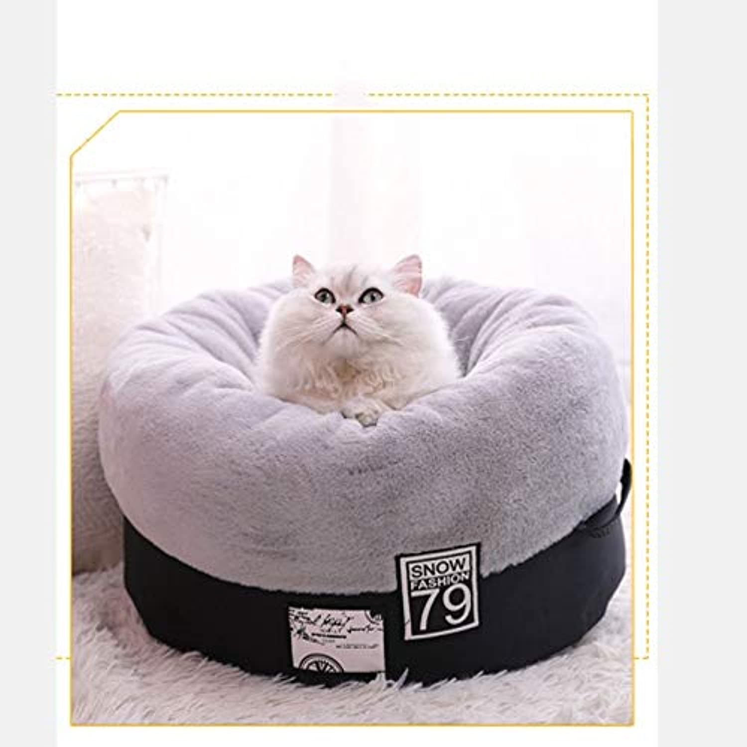 Pet bed Pet Sleeping Cabin Universal for Four Seasons Can Be Separately Removed and Washed Easy to Move NonSlip Design Pet Supplies (color   Black, Size   A45  45  25cm)