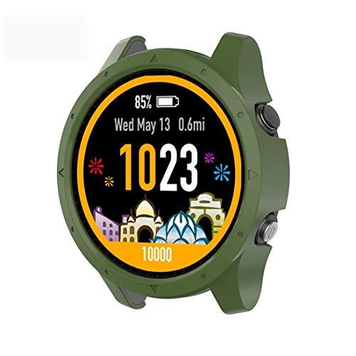 Caja Protectora qw Inteligente Reloj PC for Garmin Forerunner 935 (Verde) del ejército Electrónica