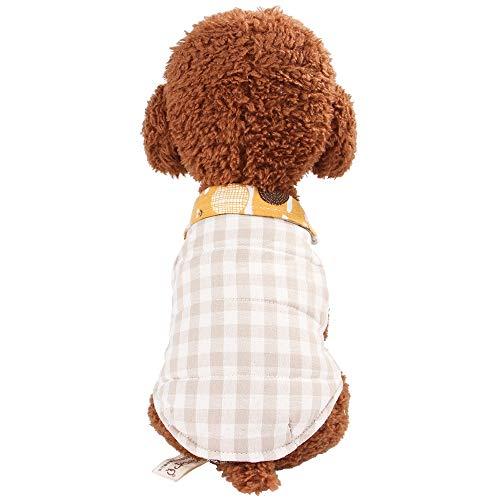Haustier Britischer Mantel Kariertes Hemd Weste heiße Frühlingskleidung for Herbst Wintermantel Haustiere Kleidung Größe: XXL (Pink) (Color : Khaki)