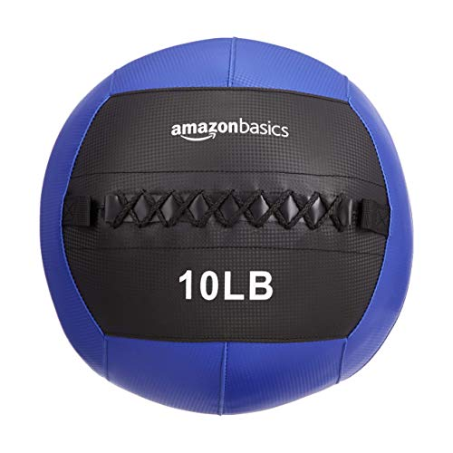 AmazonBasics Weighted Medicine Slam Ball - 10 Pound, Blue