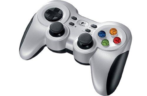 Logitech F710 Gamepad Inalámbrico, 2,4 GHz con Nano-Receptor USB, Distribución de Botones Clásica, Doble Efecto de Vibración, Mando de Dirección 4 Conmutadores, PC/Steam/AndroidTV, Versión Alemana
