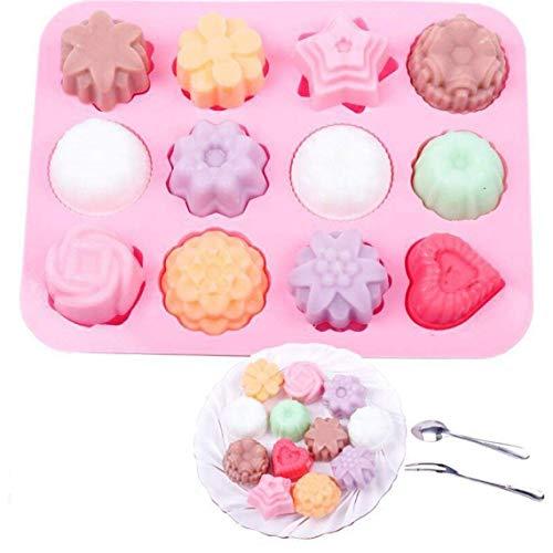 Kuchenform Silikon Mousse Seife 12 Grid Biscuit Biscuit Schokoladennachtischs Form hausgemachte Süßigkeiten hausgemachter DIY
