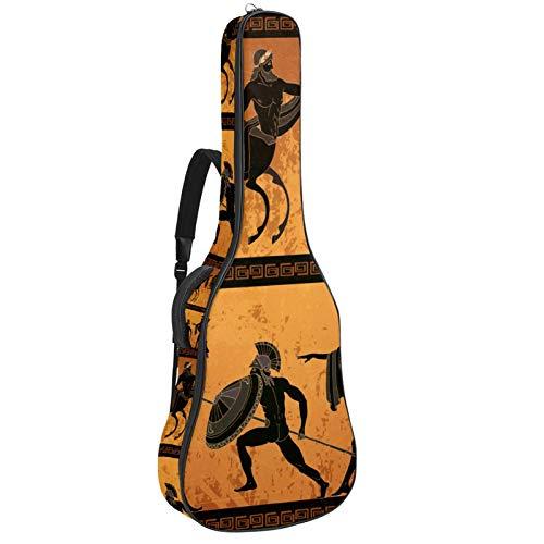 Funda de Guitarra Española Indio, silueta Bolsa Acolchada Para Guitarra Acústica con Asa de Transporte y Correa Para el Hombro 109x43x12cm