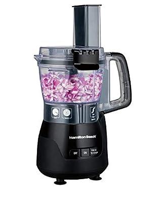 Hamilton Beach 4-Cup Mini Food Processor & Vegetable Chopper, 250 Watts, for Slicing, Shredding, and Puree, Black (70510)
