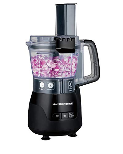 Hamilton Beach 4-Cup Mini Food Processor & Vegetable Chopper, 250 Watts, for Slicing, Shredding, and Puree, Black (70510)