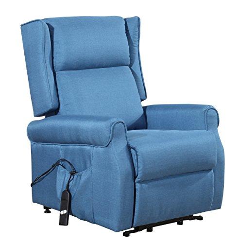 ConfortChoice POLTRONA MODELLO NONNA BLU: reclinabile elettrica, funzionamento automatico, in tessuto